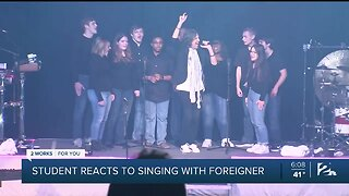 Cascia Hall Student Reacts To Singing With Foreigner
