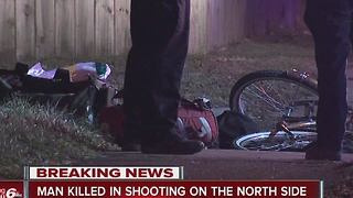 Man dies after being shot multiple times while riding bike on Indy's north side - Video