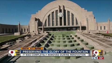 Glory of the Union Terminal fountain restored