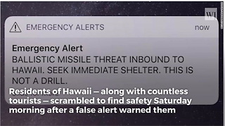 Emergency Response Worker Responsible for False Hawaii Missile Alert Just Learned His Fate - Video