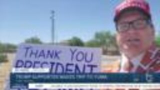 Just back from Tulsa, Trump supporter makes trek to Yuma for presidential visit