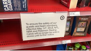 Target Suspends In-store Sales Of Sports And Pokémon Trading Cards