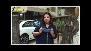 Farah khan Spotted at kromakay salon as the photographers wished her Happy birthday | SpotboyE