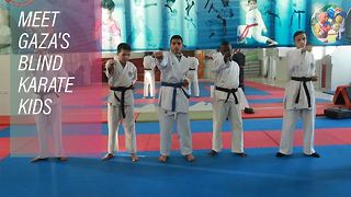 Eye of the tiger: Gaza's blind karate champs - Video