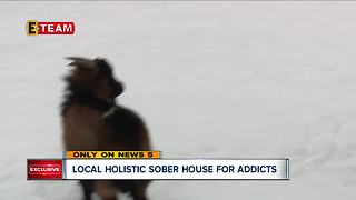 How a recovery house uses a holistic approach to help keeps addicts off drugs - Video