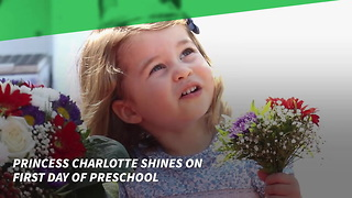 Kensington Palace Releases Photos from Kate of Princess Charlotte's 1st Day of School - Video