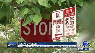 Contact7 makes quick work of Denver stop sign issue