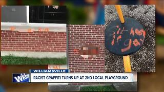 Racist, homophobic graffiti covers Williamsville playground - Video