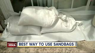 Best ways to use sandbags ahead of Hurricane Irma - Video