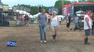 Heavy rain makes for soggy conditions at Country USA