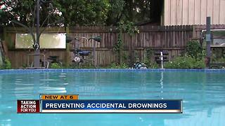 Palm Harbor Firefighters assessing pool safety in local neighborhood - Video