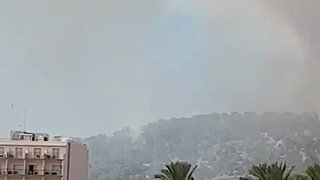 Smoke Rises From 'Level 1' Wildfire in Ibiza