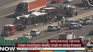 Deadly crash on I-17 in PHX creates heavy delays - Video