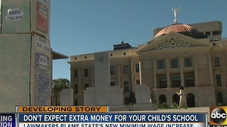 Lawmakers: minimum wage increase likely to prevent school funding bump - Video
