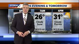 More snow expected Monday morning - Video