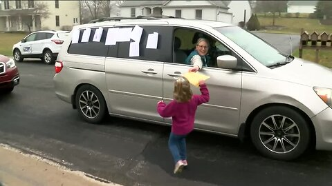 6-year-old gets surprise birthday parade