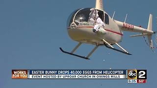 Easter Bunny drops 40,000 eggs from helicopter