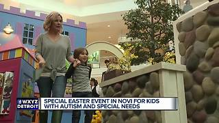 Easter event in Novi for kids who have special needs - Video