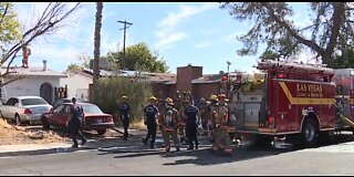 Couple critically hurt in Vegas house fire