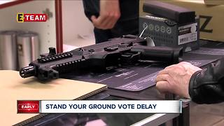 Stand your ground vote delayed - Video