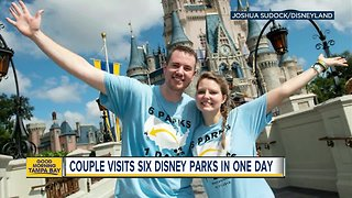 Couple visits 6 Disney parks on 2 coasts in 1 day - Video