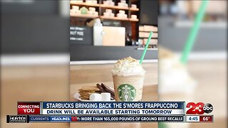 S'mores frappuccino available starting tomorrow