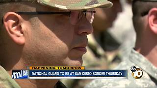 National Guard to be at San Diego border Thursday - Video