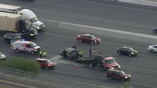 Crash causing major traffic delays on I-15, Flamingo - Video