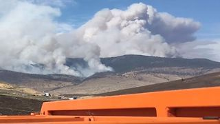 Smoke From Ashcroft Fire Billows Over Hills in Cache Creek, BC - Video