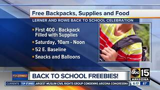 Where to get free backpacks, school supplies in the Valley - Video