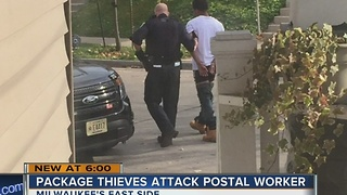 Package thieves attack postal worker on Milwaukee's east side - Video