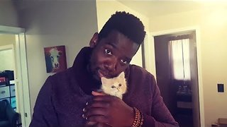 Man Shows Love for His Best Cat Friend - Video