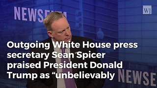 Spicer Tells Hannity His Honest Opinion of President Trump - Video