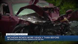 Michigan State Police say despite traffic decreases, more people are dying on Michigan roads