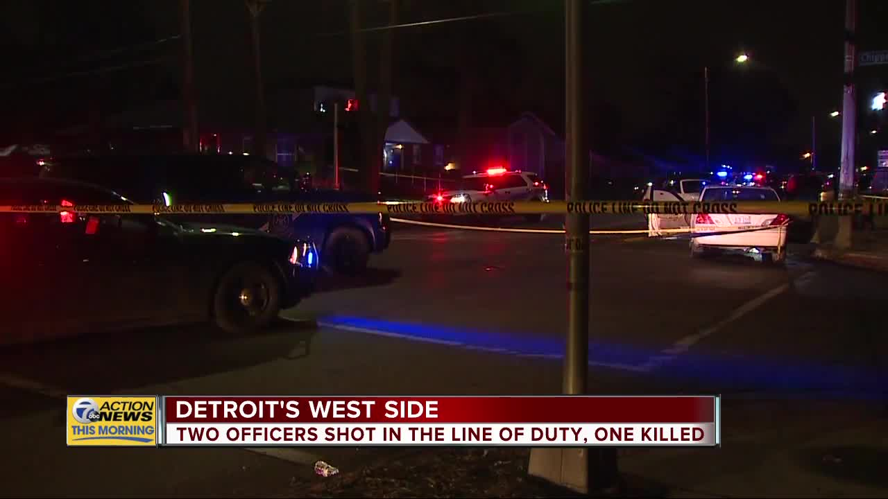 2 Detroit police officers shot, 1 killed on Detroit's west side