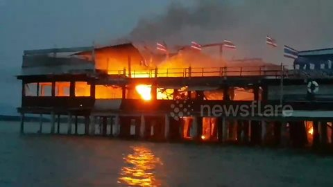 Oyster farm and hotel ravaged after mosquito spray catches fire