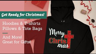 Get Ready for Christmas T-Shirts Hoodies Mockup Video