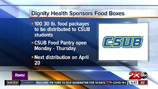 Dignity Health sponsoring food boxes