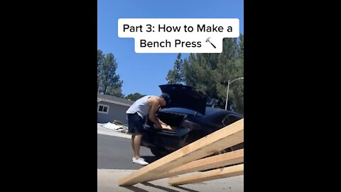 Guy Creates Outdoor Gym Using $70 Weight Set He Upcycled!