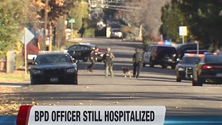 One BPD officer remains hospitalized after a shootout Friday - Video