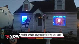 Western New York shows support for Officer Lehner - Video