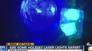 Holiday laser lights: dangerous? - Video