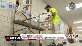 Construction crews stay busy at schools during summer break - Video