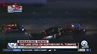 Crash on Florida's Turnpike in Martin County causes heavy delays - Video
