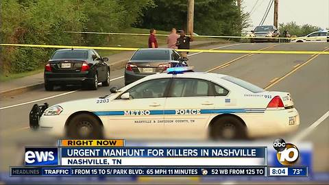 Urgent manhunt for killers in Nashville