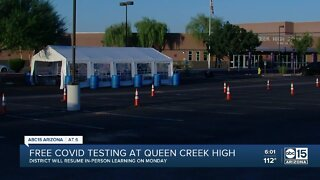 Free COVID-19 testing at Queen Creek High School