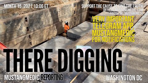 There's a big hole being dug in front of the US Capitol Building