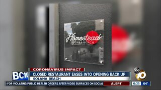 Solana Beach restaurant eases into reopening