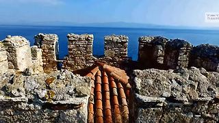 Historic Byzantine tower captured in Greek drone footage