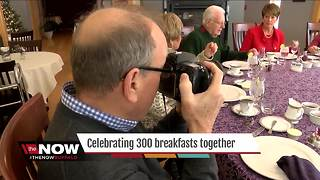 Breakfast groups celebrates their 300th morning meal - Video